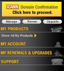 Registrar ICANN button location